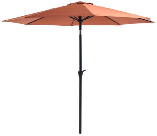 Parasol ogr. AGGER Ś300 czerwony