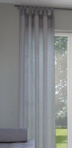 Záclona ORUST 1x140x300 sivá