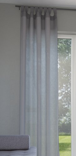 Zavjesa ORUST 1x140x300 siva