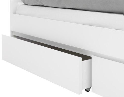 Bettgestell LIMFJORDEN 90x200 weiß