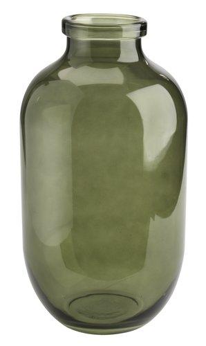 Vase FELIX Ø19xH35cm verre vert