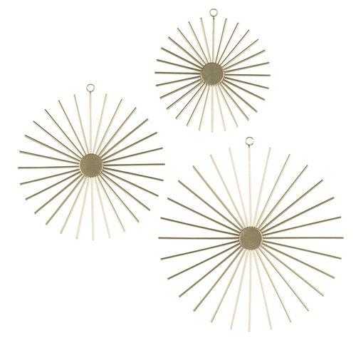 Decoratiuni perete STELLAN auriu 3buc/pa