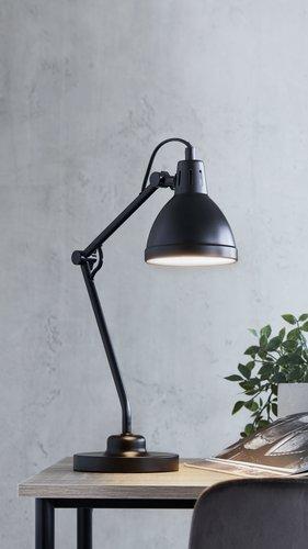 Tischlampe PATRIK Ø14xH45cm schwarz