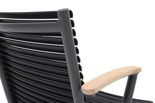 Chaise empilable SADBJERG noir