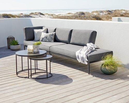 MOELV Ø65/48 grå+2 KVITFJELL sofa sort