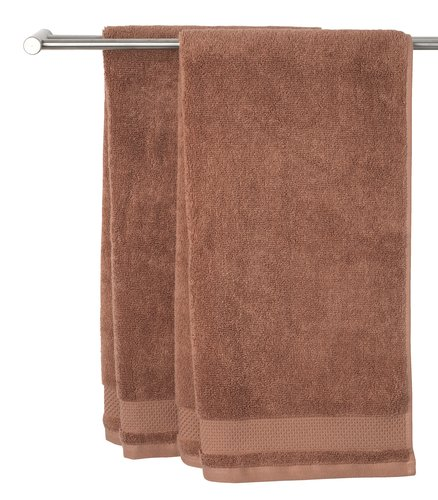 Hand towel NORA 50x100 light brown