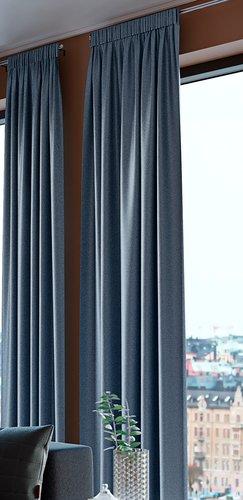 Gardin lysdemp AMUNGEN 1x140x300 støvblå