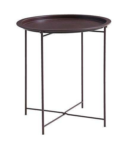 Столик RANDERUP Ø47 см бордовый