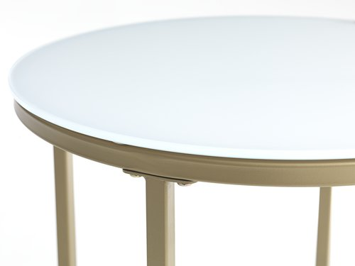 End table GADEVANG D45 white/gold