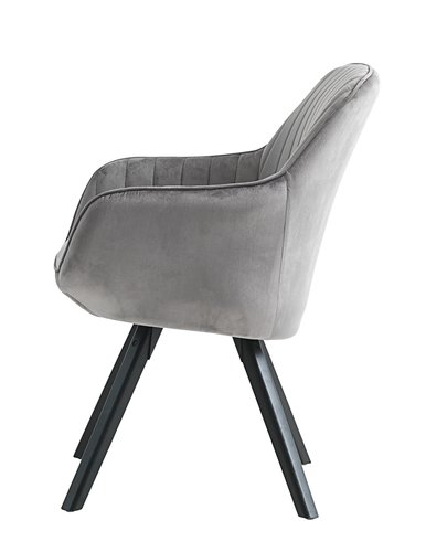 Крісло ONSEVIG оксамит сірий