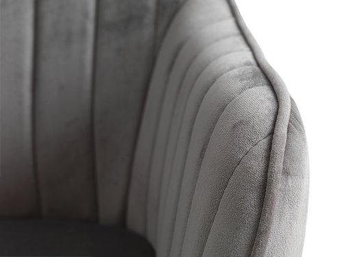 Fåtölj ONSEVIG sammet grå/svart