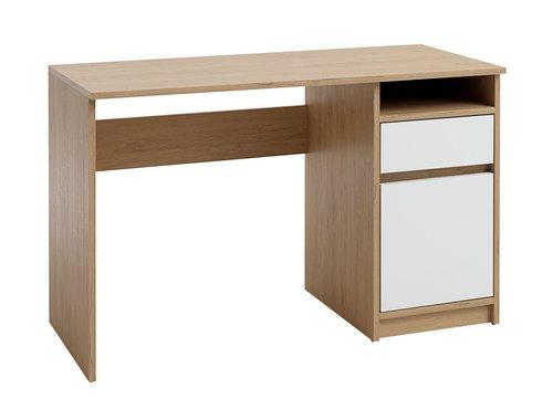 Birou BILLUND 54x120 alb/stejar