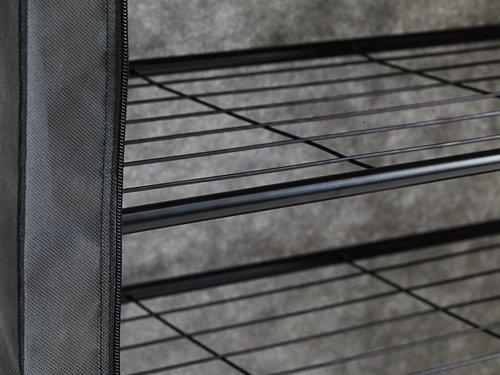 Schoenenkast HAJSTRUP 4 schappen d.grijs