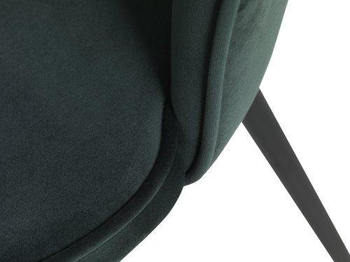 Scaun RISSKOV catifea verde închis/negru