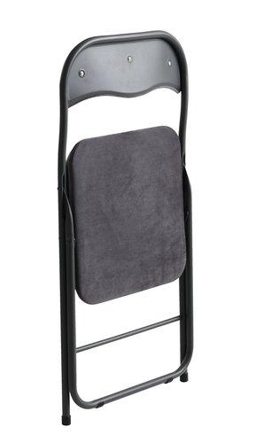 Scaun pliabil VIG catifea gri închis