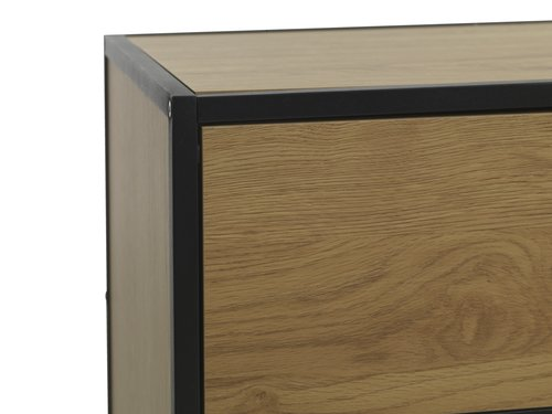 4 drawer chest TRAPPEDAL oak/black