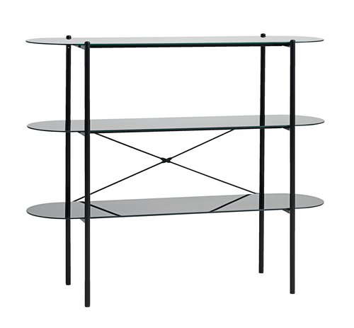 Shelving unit PADBORG 3 shelves black