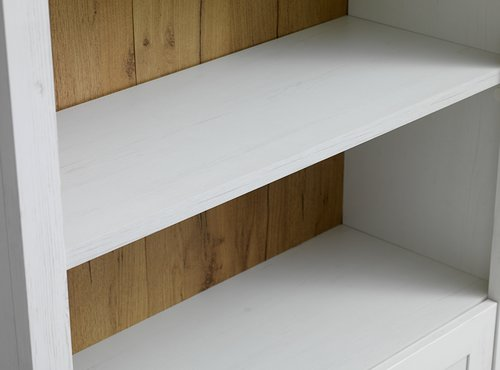 Bookcase MARKSKEL 2 drawers white/oak