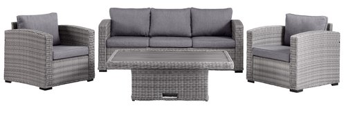 Lounge set FJELLERUP 5 pers. grey