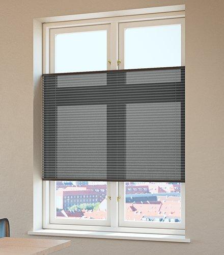Plisségardin HVEN 90x220 grå
