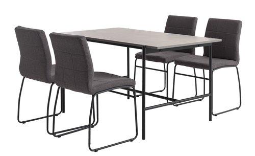 Miza TERSLEV D140 + 4 stoli HAMMEL