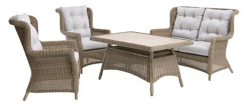 Cadeira lounge FALKENBERG natural
