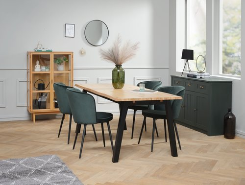 Sideboard MARKSKEL 3 door dark green