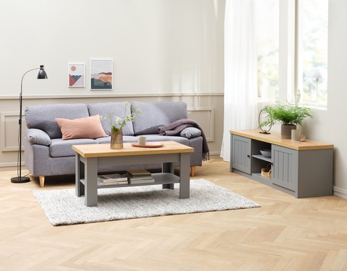 Coffee table MARKSKEL 60x110 grey/oak