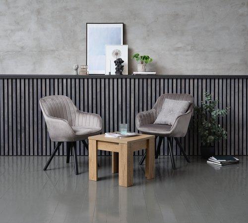 Nojatuoli ONSEVIG sametti harmaa/musta