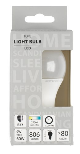 Light bulb TORE 9W E27 LED 806 lumen