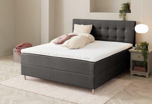 Sänggavel 180x115 H10 PLAIN grå-28