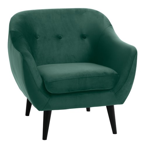 Кресло EGEDAL кадифе, зелено