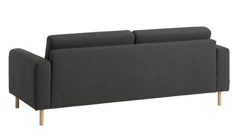 Sohva SVALBARD 3-istuttava tummanharmaa