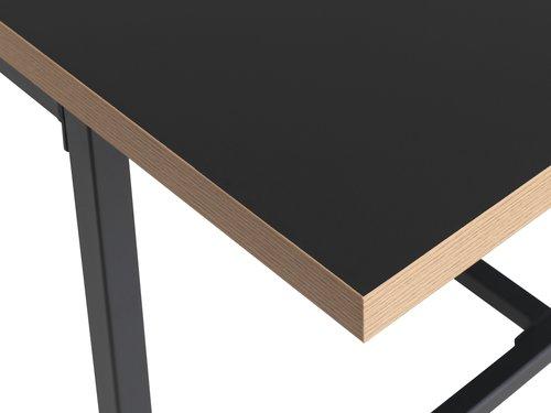 Ruokapöytä EGUM 90x220 musta/tammi
