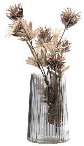 Vase ROY D13xH20cm glass grey