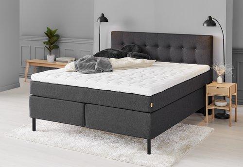 Sänggavel 180x122 H70 knappar grå-40