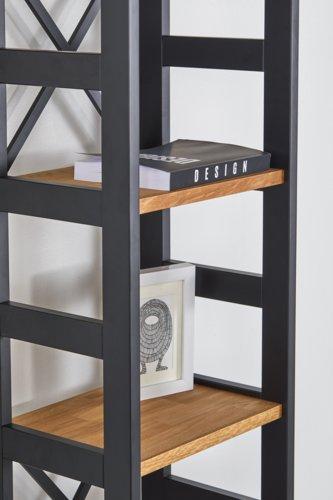 Libreria INTRUP stretta 6ripiani rovere