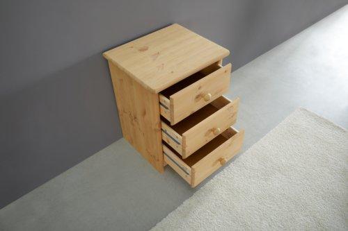 Kommode MIA 3 Schubladen gebeizt