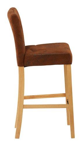 Chaise de bar TOM brun clair vieilli