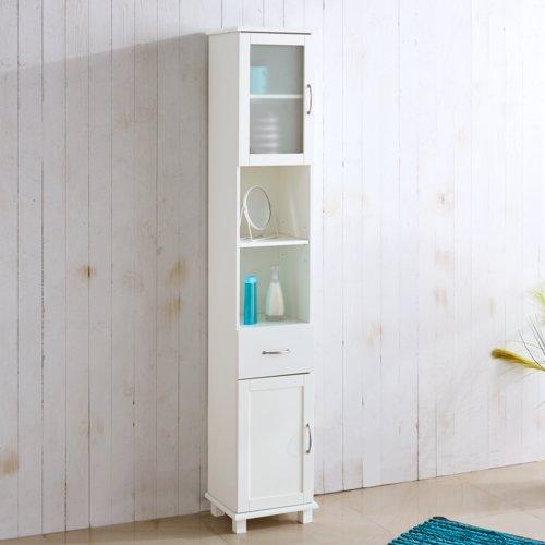 Badezimmerschrank SKALS 35x188 weiß