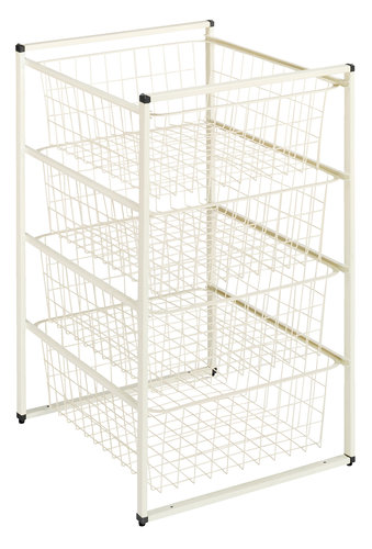 Wardrobe insert BARKHOLT 4 wire baskets