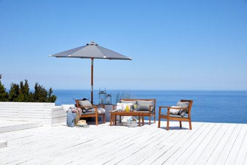 Lounge-Set MADAGASKAR 4 Pers. Hartholz