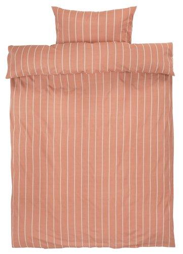 Påslakanset SARA 150x210 persika