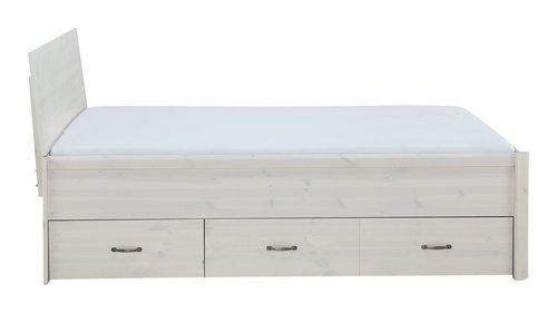 Bettgestell LYNGBY 200x200 weiß
