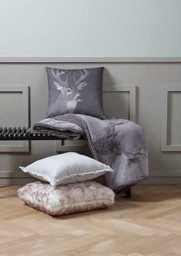 Cushion SANDSTEN 50x50 white/brown