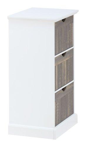 Kommode ORLANDO 3 Schubladen weiß/grau