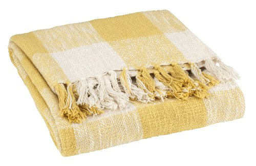 Throw STORFRYTLE 130x170 white/yellow