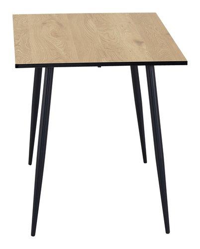 Mesa comedor HORBELEV 70x120 roble/negro