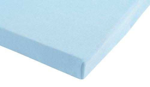 Jersey-Spannleintuch 90x220x30 blau