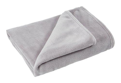 Plaid CLASSIC polaire 130x160 gris clair